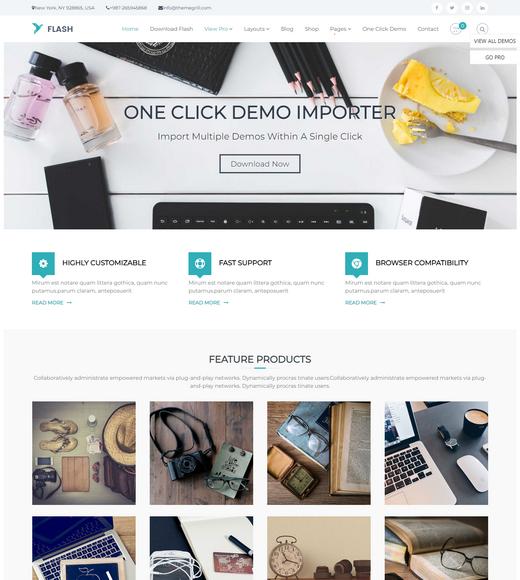 Flash WordPress Landing Page