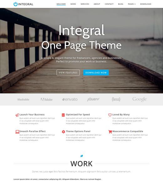 Integral WordPress Landing Page Theme