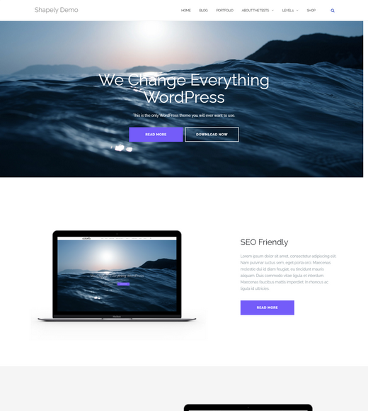 Shapely Free WordPress Landing Page Themes