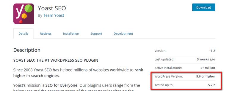 WordPress Version Select a WordPress Plugin