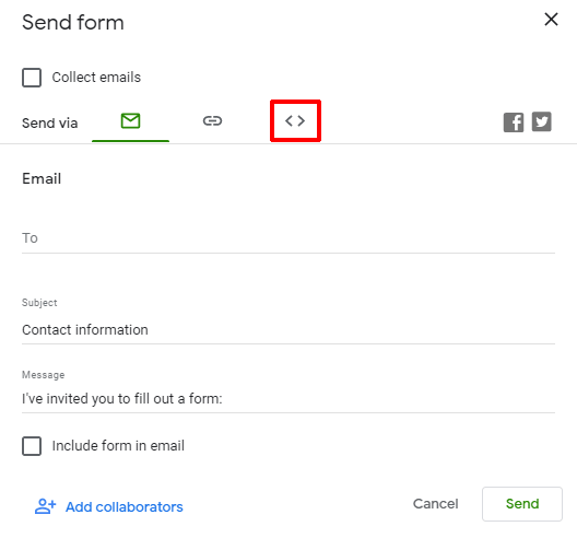 Embed Button How to Embed Google Form in WordPress