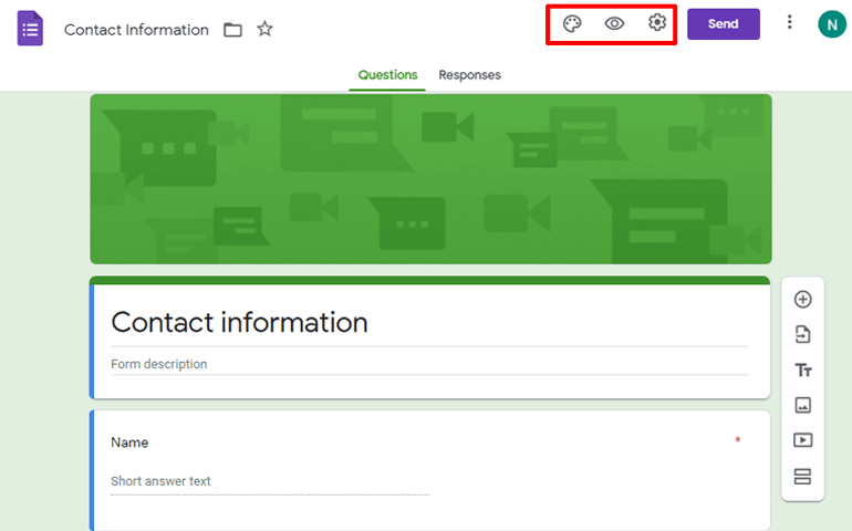 Features on Google Forms