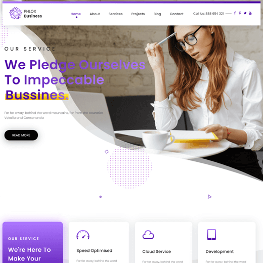 Phlox Theme Demo Best Free Customizable  WordPress Themes