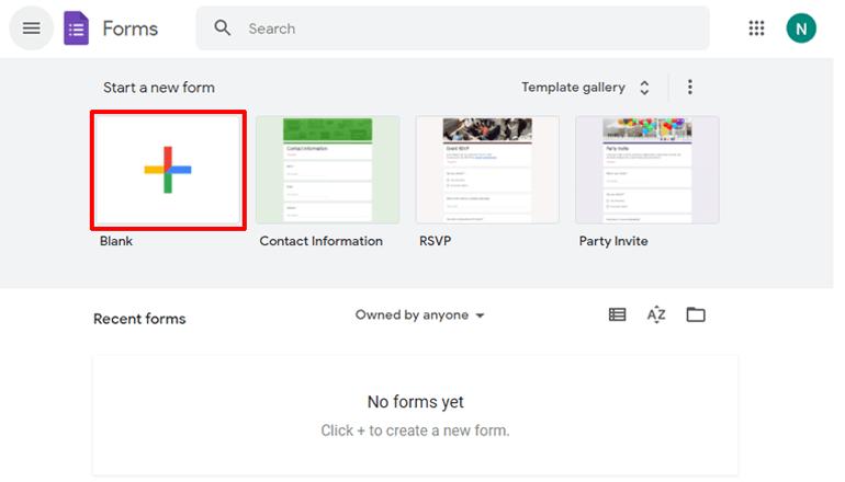 Plus Button Google Forms