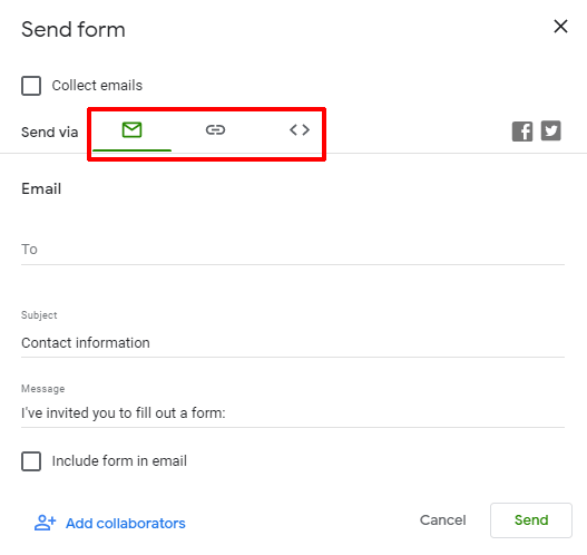 Send Option How to embed Google Form in WordPress