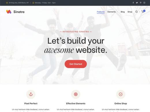 Sinatra Theme Demo Best Free customizable WordPress Themes