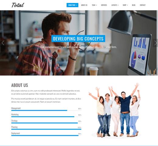Total Theme Demo Best Free Customizable WordPress Themes