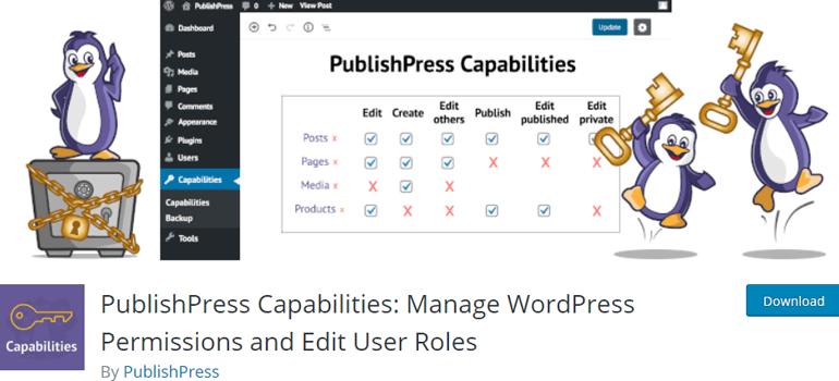 PublishPress Capabilities Manage Users in WordPress