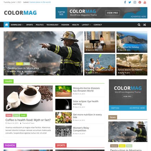 Colormag Best Free Customizable WordPress Theme