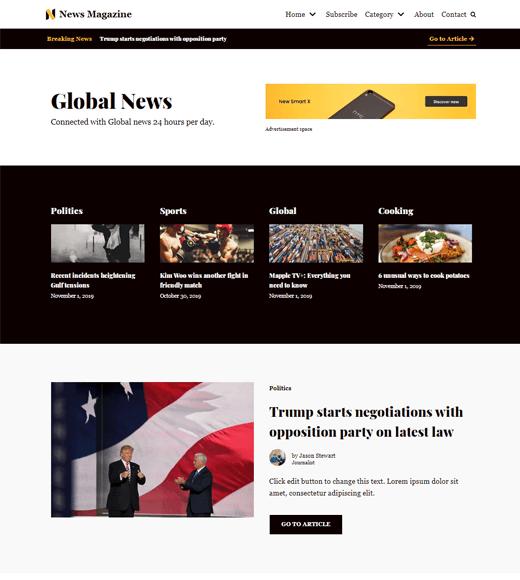 Neve Free WordPress Magazine Template