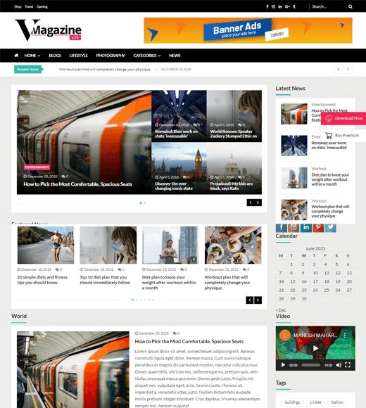 VMagazine Lite WordPress Theme Demo