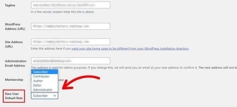 User Default Role for Registration Forms