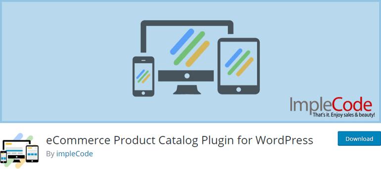 eCommerce Product Catalogue Plugin