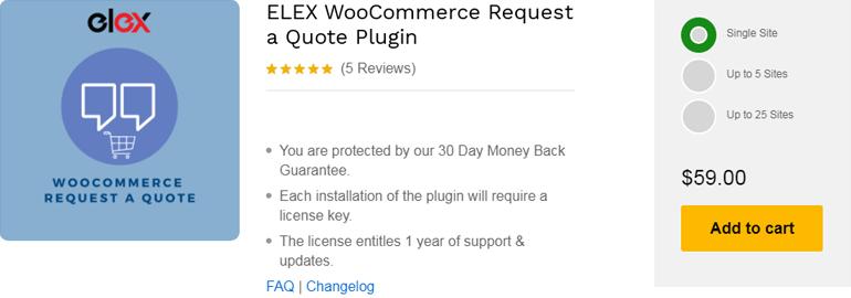 ELEX WooCommerec Request a Quote Plugin