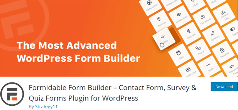 Formidable Forms Drag and Drop Form Builder Plugin