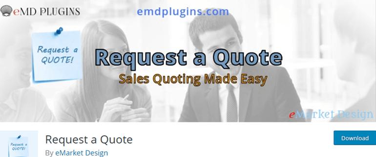 Request a Quote WordPress Plugin