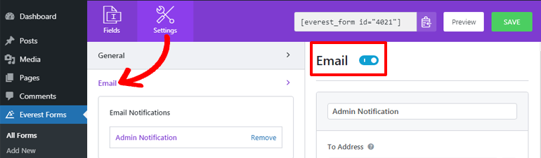 Setting Email Notification of WordPress Request a Call Back Form