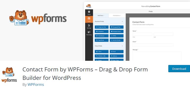 WPForms Contact Form WordPress Plugin