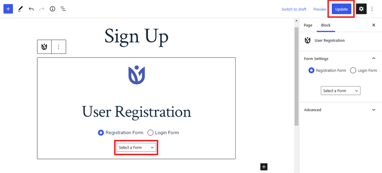 WordPress User Registration Block Enforce Strong Passwords