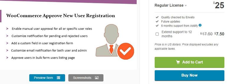 WordPress & WooCommerce Approve New User Registration Admin Approval Plugin