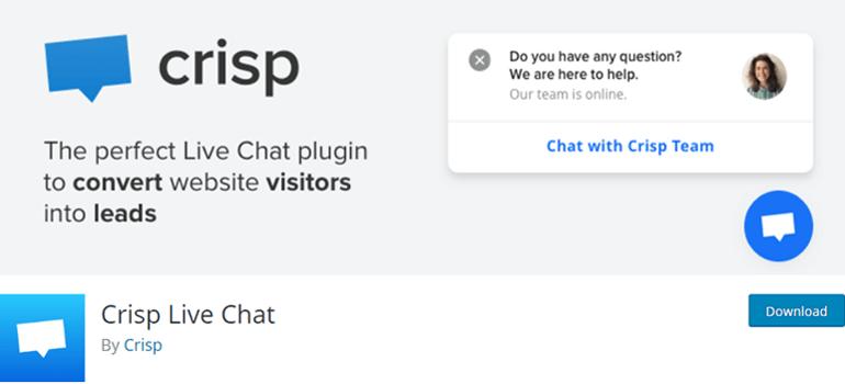 Crisp Live Chat WordPress Plugin