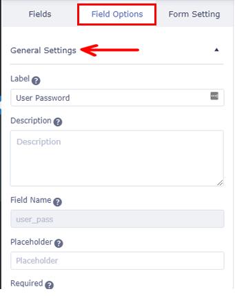 General Settings User Registration