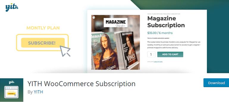 YITH WooCommerce Subscription Best WordPress WooCommerce Plugin
