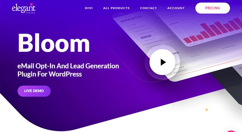 Bloom WordPress Plugin by Elegant Themes