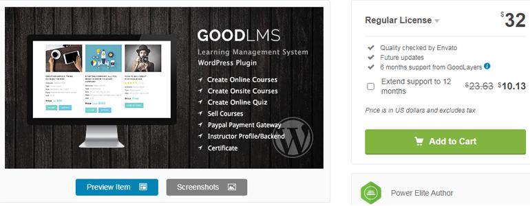 GoodLMS WordPress Online Course Plugin