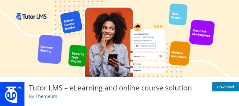 Tutor LMS Online School WordPress Plugin